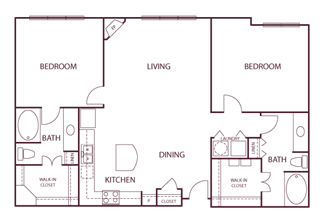 1,305 sq. ft. B4 floor plan