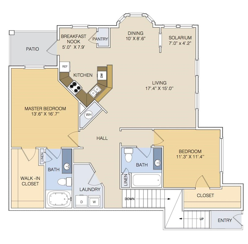 1,448 sq. ft. B2 UPPER floor plan