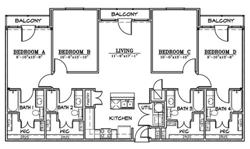 1,471 sq. ft. D3 floor plan