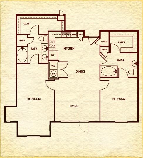 1,326 sq. ft. to 1,336 sq. ft. floor plan