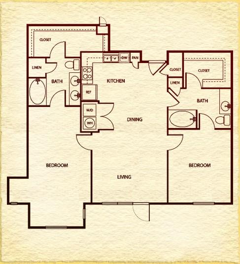1,326 sq. ft. to 1,350 sq. ft. C7 floor plan