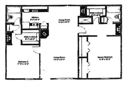 1,056 sq. ft. E floor plan