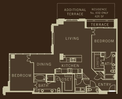 1,672 sq. ft. B6 floor plan