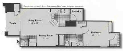725 sq. ft. Knights floor plan