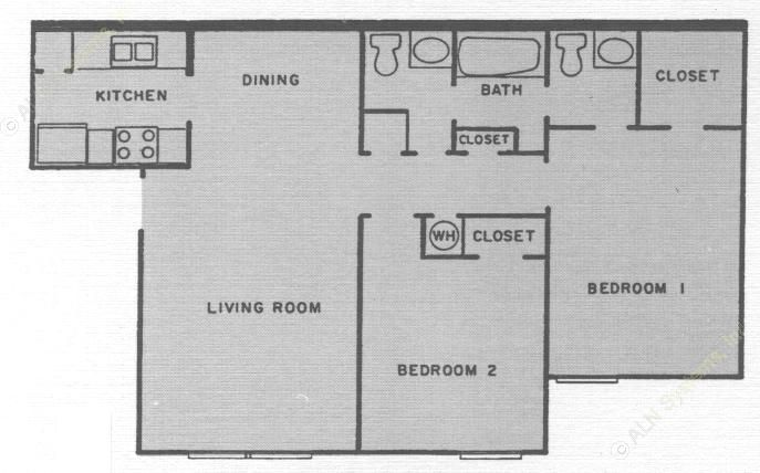 872 sq. ft. Biscayne floor plan