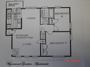 814 sq. ft. floor plan
