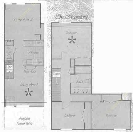 1,300 sq. ft. C1 floor plan