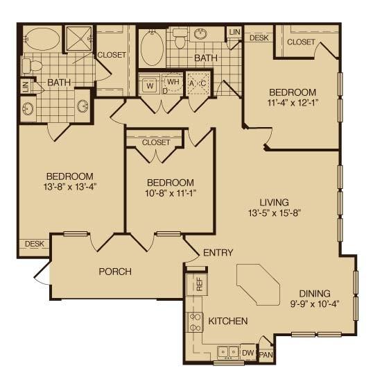 1,452 sq. ft. River Birch floor plan