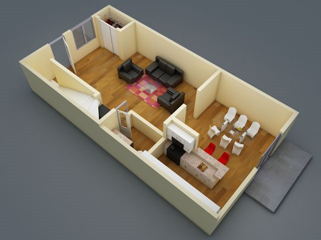 1,240 sq. ft. floor plan