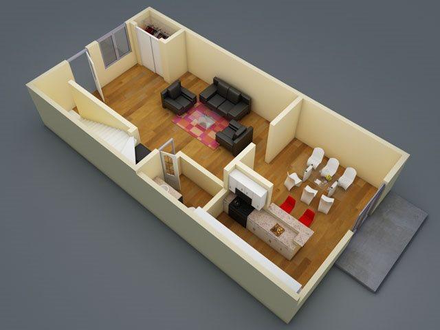1,240 sq. ft. floor plan