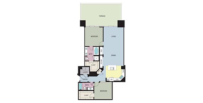 1,641 sq. ft. C floor plan