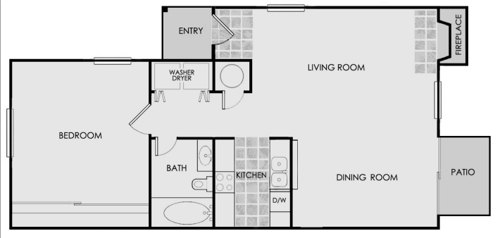 669 sq. ft. floor plan