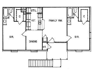 900 sq. ft. APT floor plan