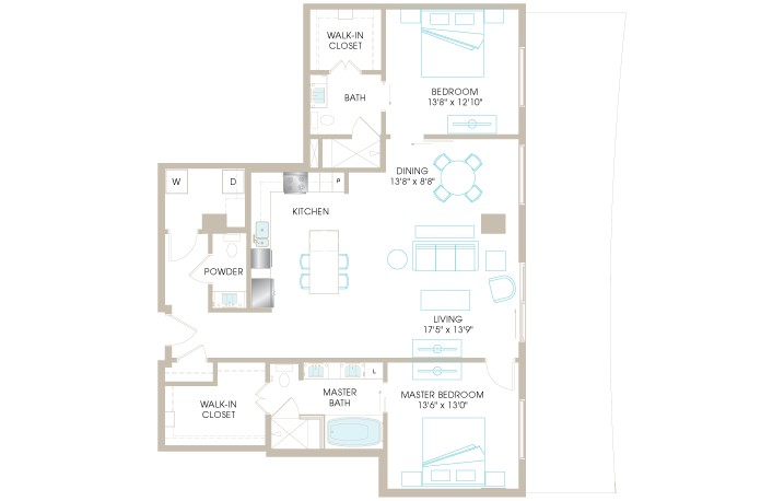 1,546 sq. ft. C9a floor plan