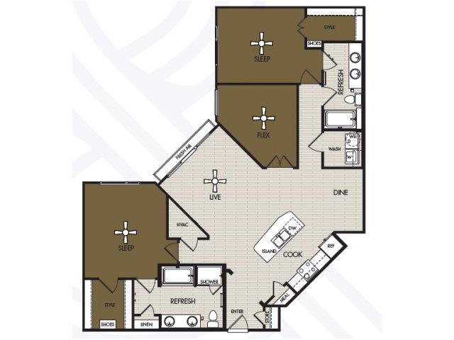1,530 sq. ft. C1a floor plan