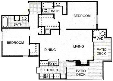 1,080 sq. ft. PECOS floor plan