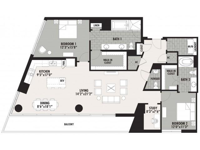 1,814 sq. ft. B15 floor plan