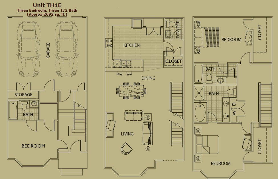 2,692 sq. ft. TH floor plan
