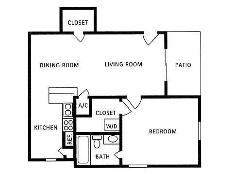 781 sq. ft. to 790 sq. ft. A16-A18 floor plan