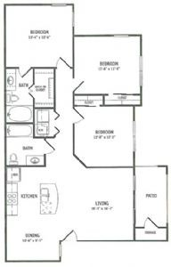 1,242 sq. ft. Cattail floor plan