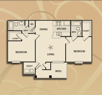 1,007 sq. ft. B1/60 floor plan