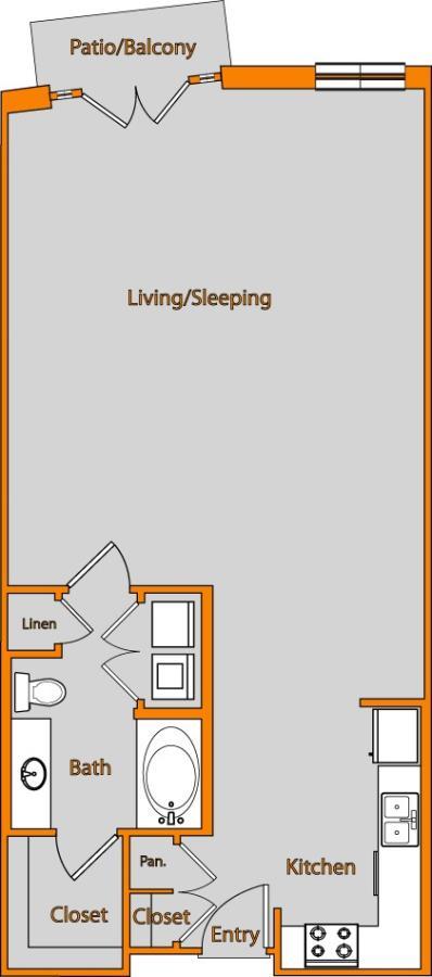 810 sq. ft. LOFT 3 floor plan
