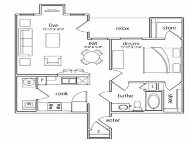 762 sq. ft. Vienna floor plan
