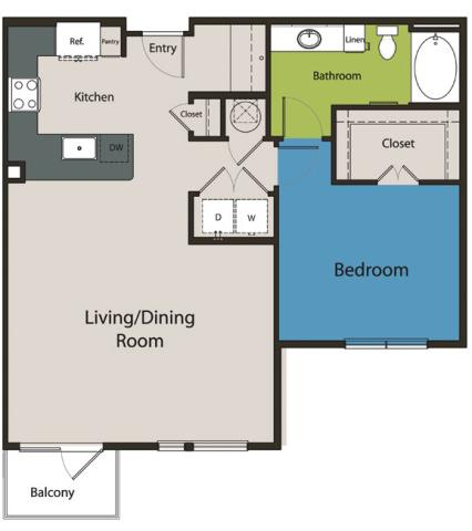 928 sq. ft. A6.1 floor plan