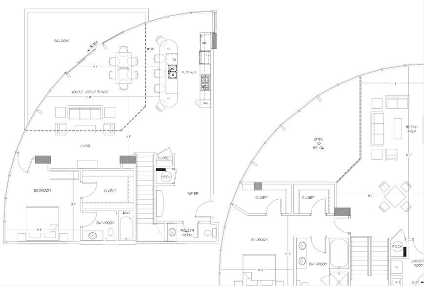 2,606 sq. ft. PH6 floor plan