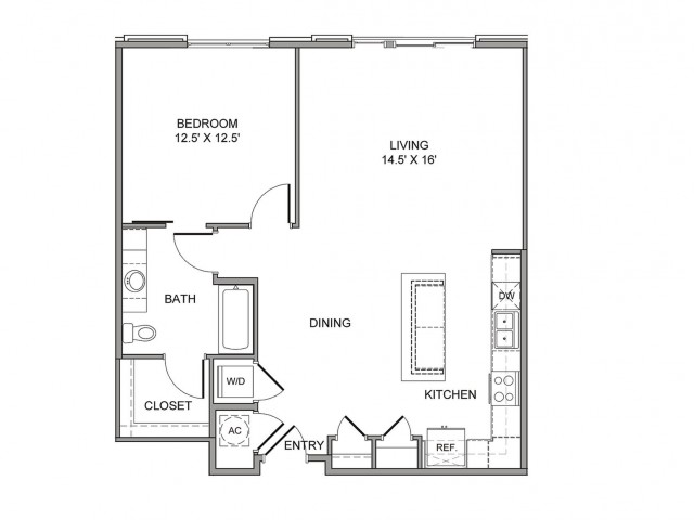 936 sq. ft. Main floor plan