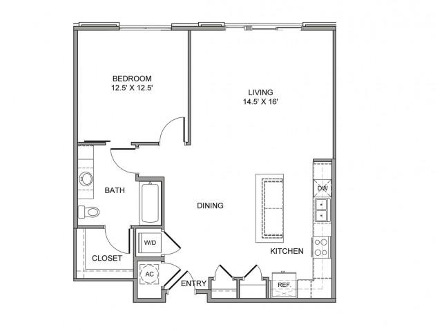 936 sq. ft. Main floor plan