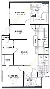 1,066 sq. ft. Sweet Gum floor plan