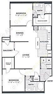 1,066 sq. ft. Sweet Gum floor plan