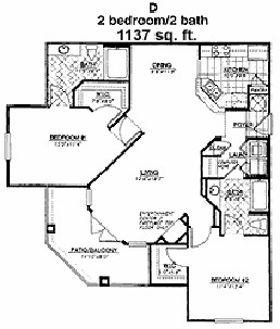 1,137 sq. ft. Bayhill floor plan