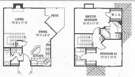 1,252 sq. ft. F floor plan