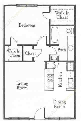 759 sq. ft. A5A floor plan