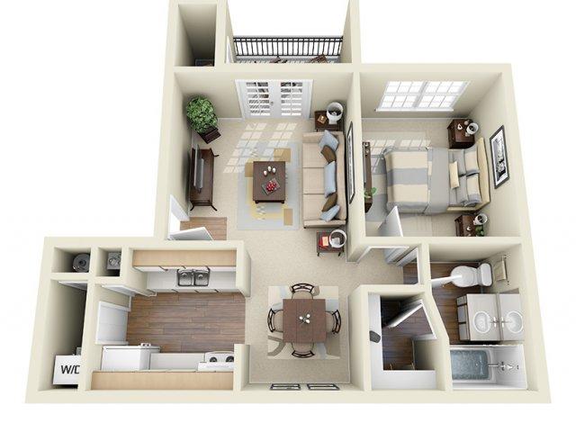 594 sq. ft. Norfork floor plan