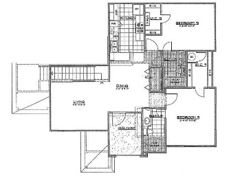 1,124 sq. ft. to 1,174 sq. ft. floor plan