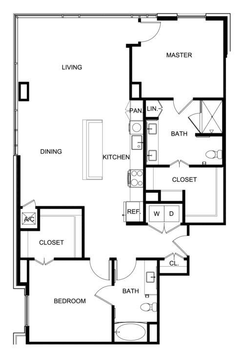1,432 sq. ft. B8 floor plan