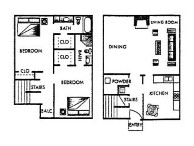 1,400 sq. ft. Augusta floor plan
