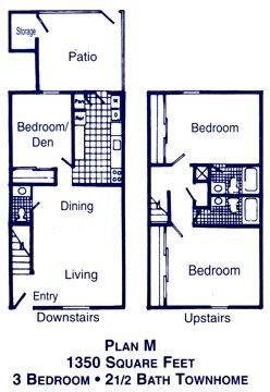 1,350 sq. ft. I floor plan