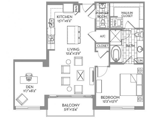 1,016 sq. ft. Douglas(A.10) floor plan