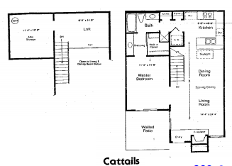 928 sq. ft. B floor plan