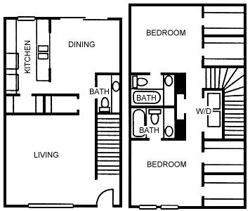 1,367 sq. ft. B7 floor plan
