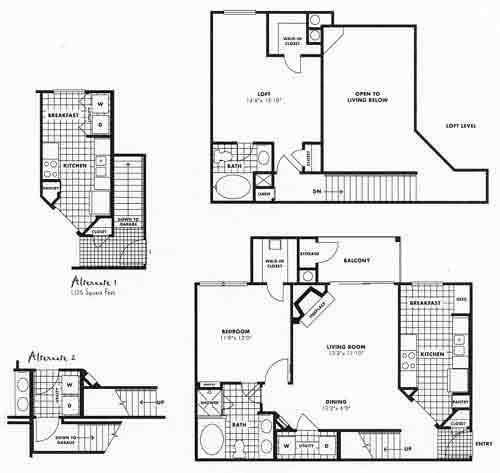 1,139 sq. ft. D5LG floor plan