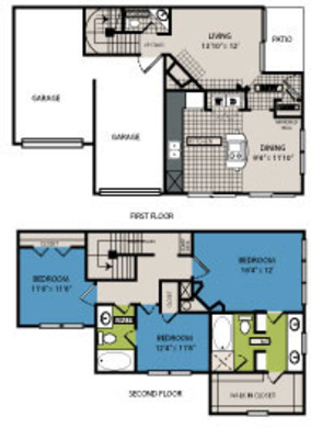 1,505 sq. ft. D2 floor plan