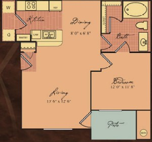 779 sq. ft. Van Gogh/60% floor plan