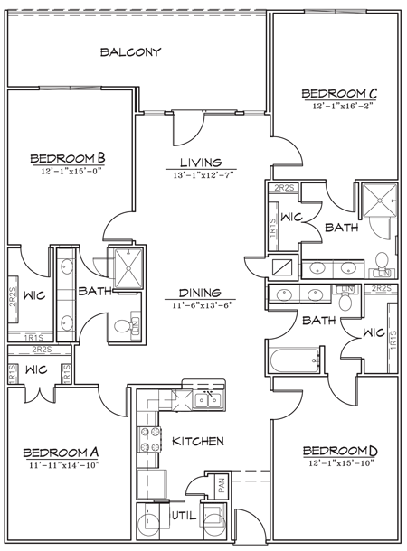 1,752 sq. ft. floor plan