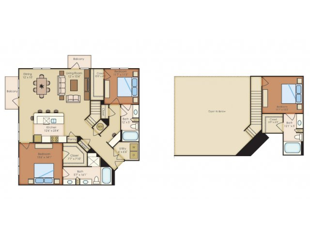 1,700 sq. ft. C1A floor plan