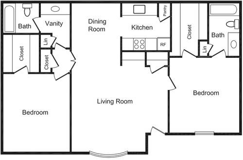 782 sq. ft. floor plan